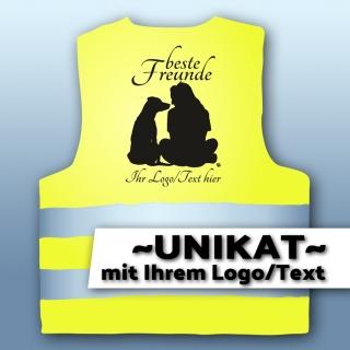 Warnweste Hunde005 - UNIKAT mit Logo/Text