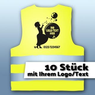 Warnweste Kinder001 - mit LOGO/Text