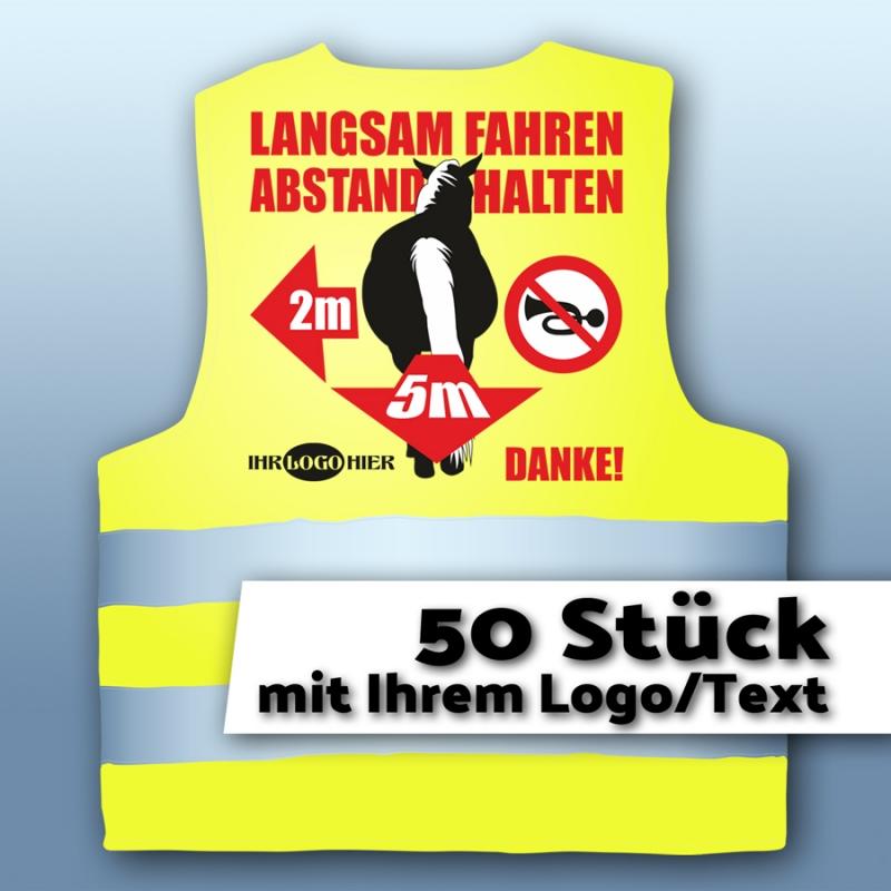 Warnweste01 - Pferd&Abstand - mit LOGO/Text