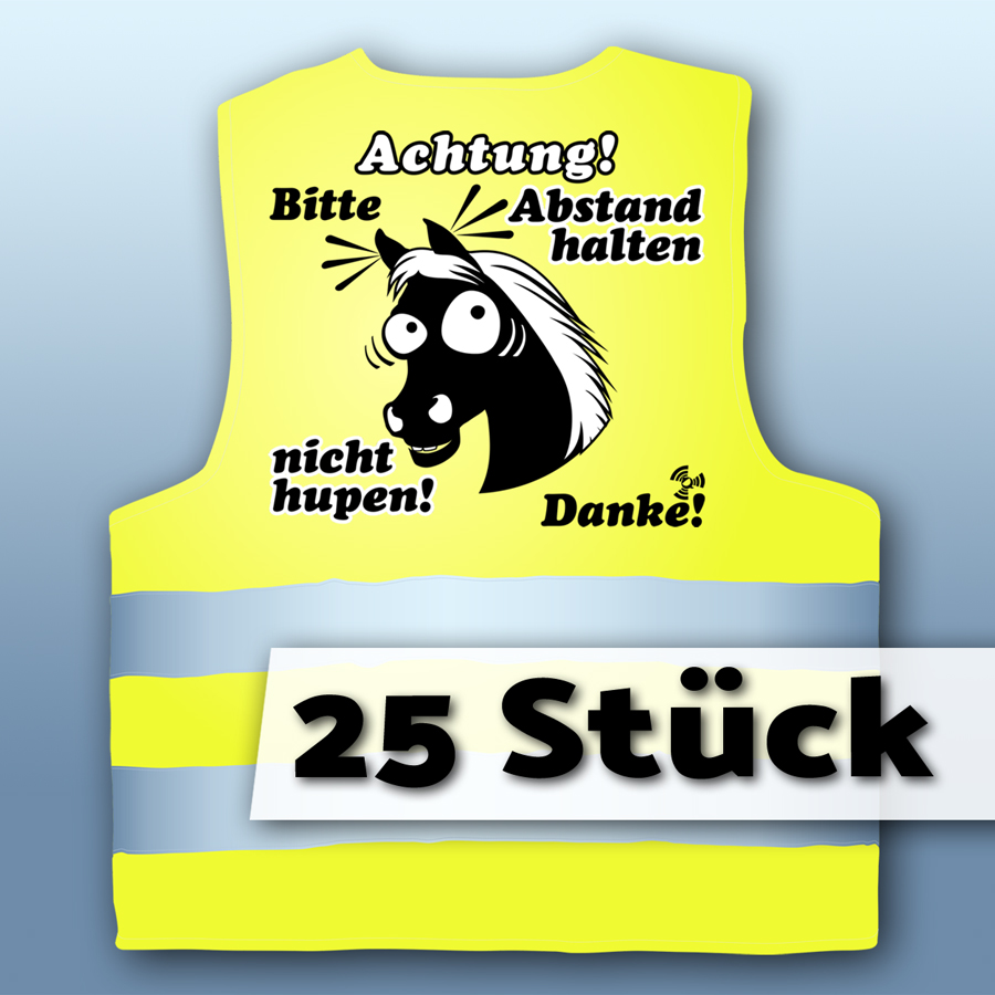 25x Warnweste Achtung! (S)
