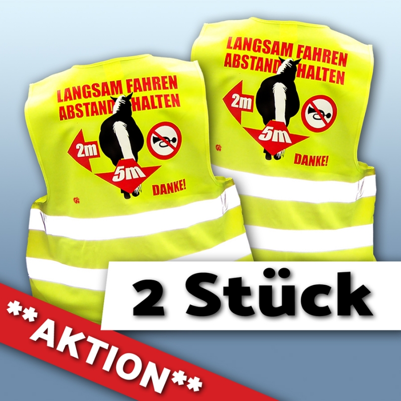 AKTION 2x Warnweste Pferd&Abstand (XL)